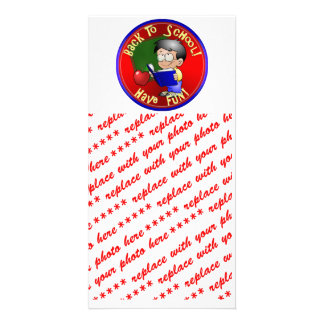 Back To School - Little Boy Reading Book Photo Greeting Card