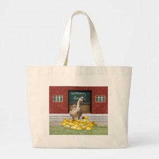 Back To School, Little Duckies! Jumbo Tote Bag