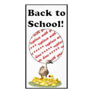 Back To School, Little Duckies! Photo Card Template