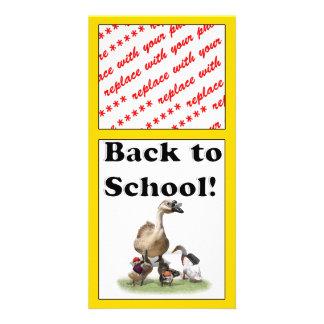 Back To School, Little Ducks! Photo Greeting Card