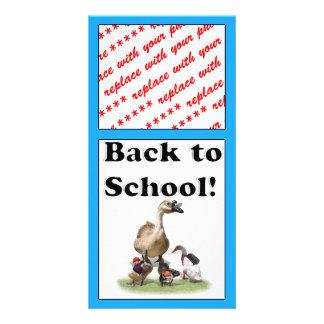 Back To School, Little Ducks! Custom Photo Card