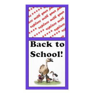 Back To School, Little Ducks! Photo Card Template