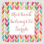 Back to School Name Book Stickers
