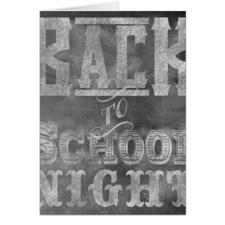 Back To School Night Invitation Card