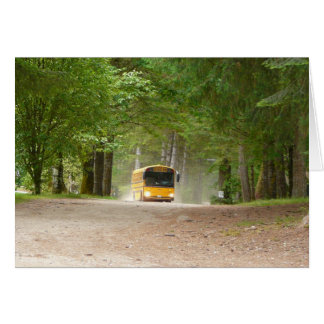 Back to School on a Big Yellow Bus Greeting Card