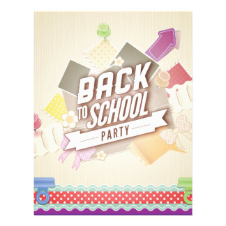 Back to School Party Custom Flyer