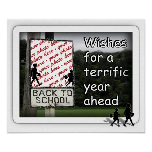 Back to School Photo Frame Poster