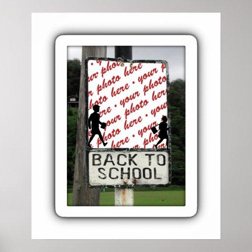 Back to School Photo Frame Print