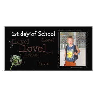 Back to school photocard personalised photo card