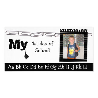 Back to school photocard personalized photo card