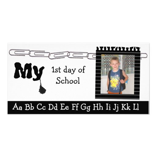 Back to school photocard picture card