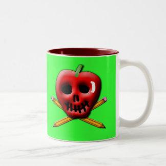 Back to School Pirate Inspired Design Two-Tone Coffee Mug
