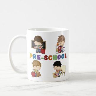 Back To School Preschool Boy Basic White Mug