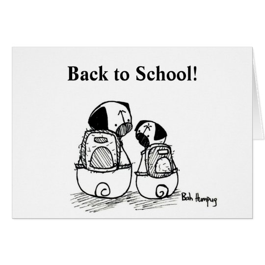 Back to School Pugs Card