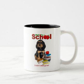 Back To School - Rottweiler Two-Tone Coffee Mug