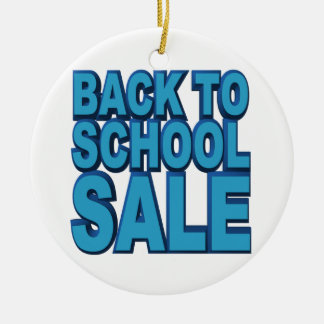 Back to School Sale Round Ceramic Decoration