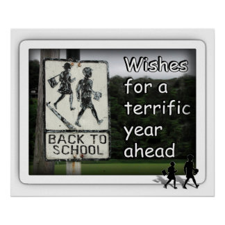 Back To School Sign Poster