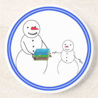 Back to School Snowmen Drink Coasters
