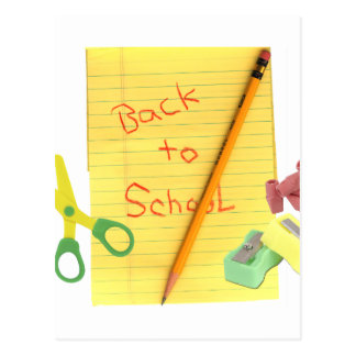 Back-to-School Stationary Postcard