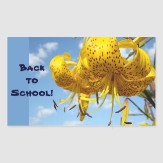 Back to School stickers envelope seals Lily Flower