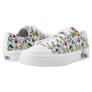 Back To School Supplies Doodle Art Low Tops