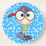 Back To School Supplies Drink Coasters