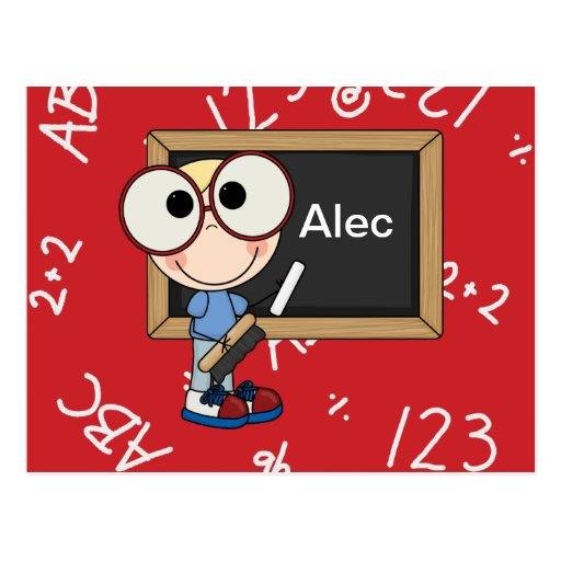 Back To School Supplies Postcards