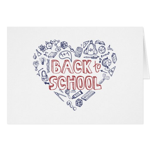 Back to School Supplies Sketchy  Notebook Cards