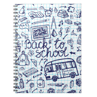 Back to School Supplies Sketchy Notebook decor