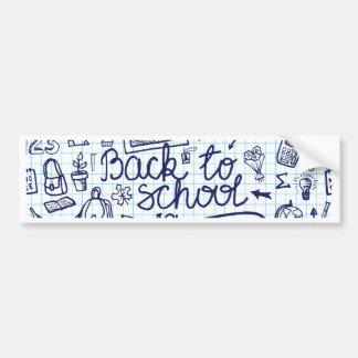 Back to School Supplies Sketchy Notebook decor Bumper Sticker