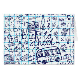 Back to School Supplies. Sketchy Notebook decor Greeting Card