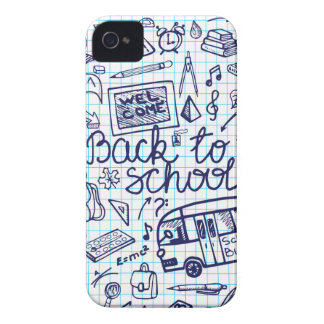 Back to School Supplies Sketchy Notebook decor iPhone 4 Case-Mate Cases