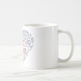 Back to School Supplies Sketchy  Notebook Coffee Mugs