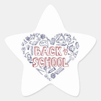 Back to School Supplies Sketchy Notebook Star Sticker