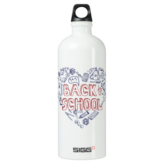 Back to School Supplies Sketchy  Notebook Water Bottle