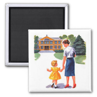 Back to School Vintage Magnet