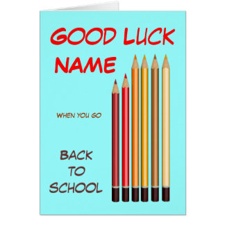 Back to school wishes greeting card