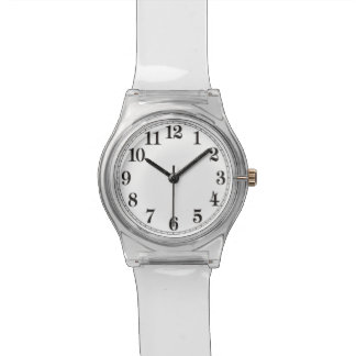 Back To The 70's Clear Lucite Retro Watch i