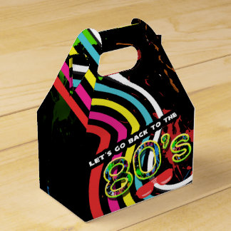 BACK TO THE 80'S Grunge Party Retro Favor Boxes