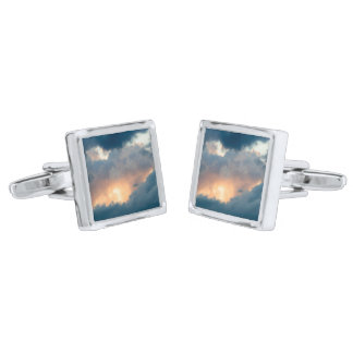 back to the early show silver finish cufflinks