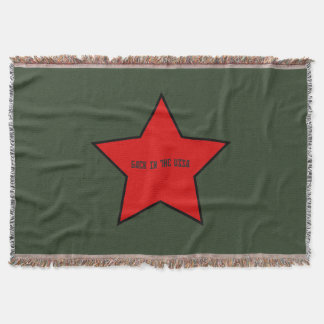 back to the ussa throw blanket