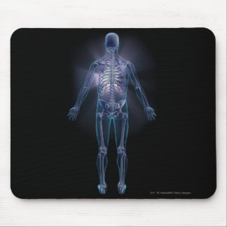 Back view of a human skeleton mouse mat
