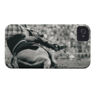 Back view of barreling racing iPhone 4 case