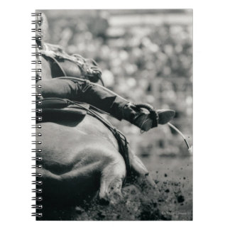 Back view of barreling racing notebook