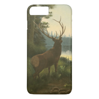Back view of Elk Looking over a Lake iPhone 8 Plus/7 Plus Case