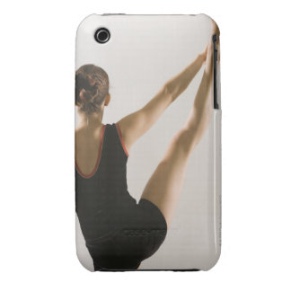 Back view of flexible gymnast iPhone 3 cases