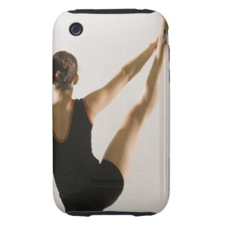Back view of flexible gymnast tough iPhone 3 covers