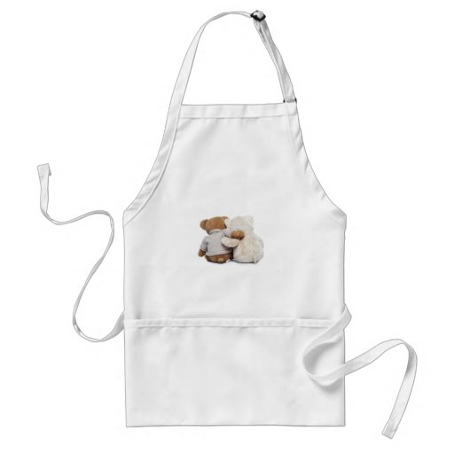 Back view of two Teddy bears hugging each other Aprons