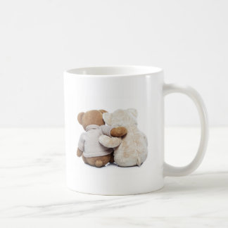 Back view of two Teddy bears hugging each other Coffee Mug