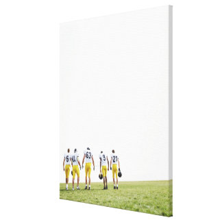 Back view portrait of rugby team canvas print